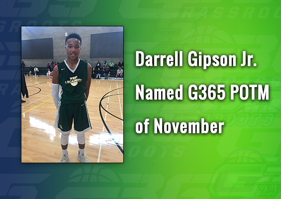 Darrell Gipson Jr. Named G365 POTM of November