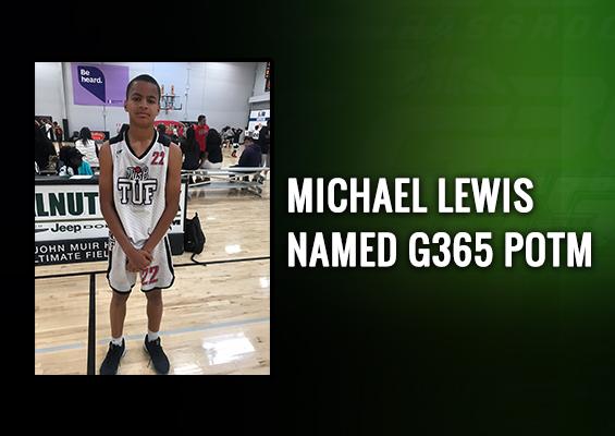 Michael Lewis named G365 POTM