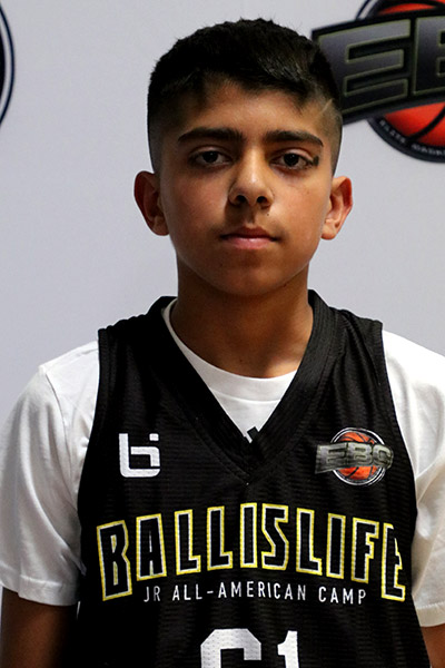 Sajjin Sidhu at Ballislife Jr. All-American Camp 2019
