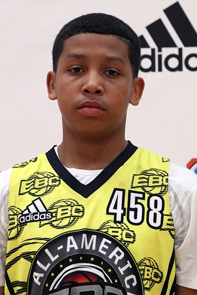 Koren Johnson at EBC Jr. All-American Camp 2017