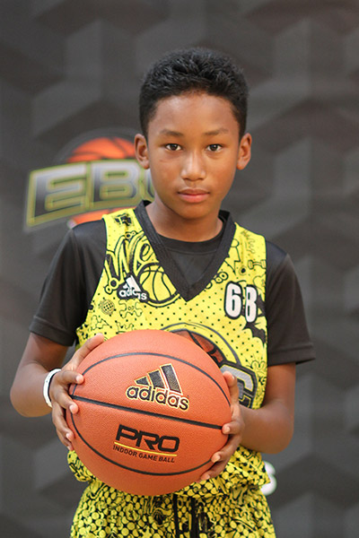 Justin Temple Jr. at EBC Jr. All-American Camp 2018