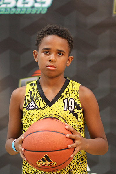 Donovan Gill at EBC Jr. All-American Camp 2018