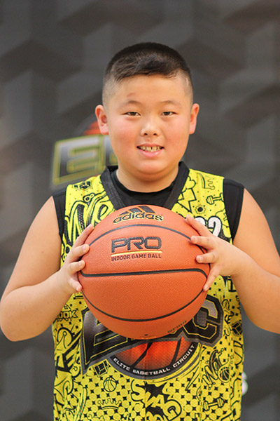 Xavier Wang at EBC Jr. All-American Camp 2018