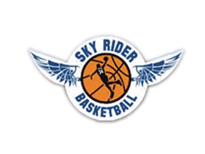 The official logo of Sky Riders Basketball